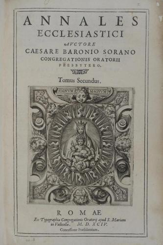 A13.2 ANNALES ECCLESIASTICI 1594