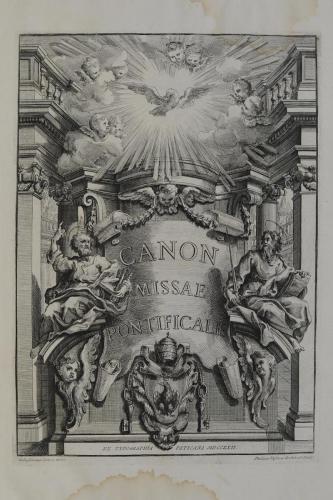 C27 CANON MISSAE PONTIFICALIS 1722 1